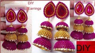 Silk Thread Earring Making - Silk Thread Jewelry Making Tutorial