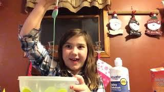 Making slime for two special people:Abbie B.Lexie C.