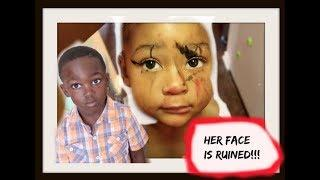 2 YEAR OLD RUINED HER FACE while I cooked.| vlog