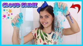 COMO FAZER CLOUD SLIME - How to Make Cloud Slime | NICOLE DUMER