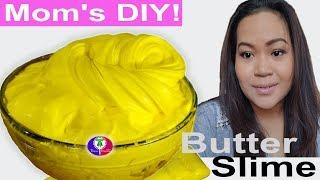How To Make Butter Slime DIY With Tide Soft-Clay Recipe By Mom's | Khmer/Thai Mom's DIY Butter Slime