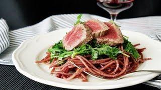 Red Wine Spaghetti with Steak - Goodfood