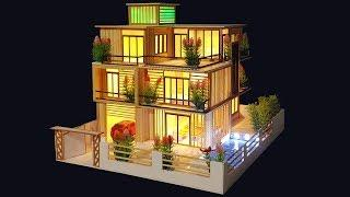 Building Popsicle Stick Mansion House - Popsicle Garden Villa - Architecture - Mode 13