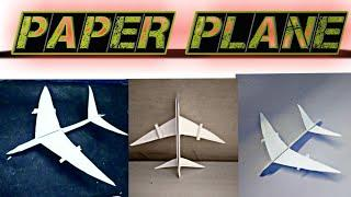 Paper Airplane   How to make a Paper Airplane   Origami plane   Easy craft..
