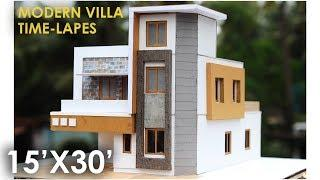 MODERN VILLA-3  | TIME-LAPES How to make realistic villa house