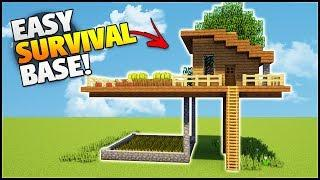 Minecraft: How to Build a Survival Base Tutorial (#1) - Easy Starter House