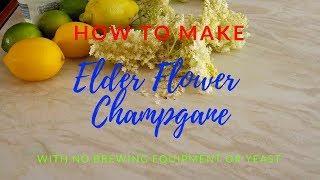 Elderflower champagne no yeast or brewing equipment.