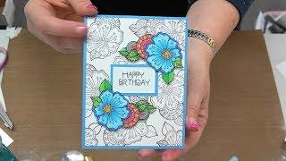#258 Make your Glitter Paper & Pallet Painting & Stampendous SAVINGS by Scrapbooking Made Simple.
