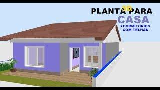 COMO FAZER  A PLANTA DE UMA CASA/ how to make a house plan