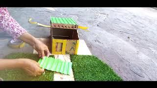 How to make house for cartoon from cardboard - Amazing Cardboard House ll Social Nature