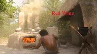 Technology | How to Make Grape Red Wine With Grapevine Natural Recipe | Primitive