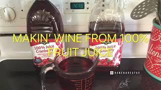 Making Wine From 100% Fruit Juice