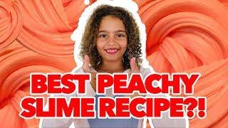 HOW TO MAKE THE BEST PEACHY SLIME!! [MY SECRET RECIPE]