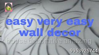 Easy wall paint design Nazim