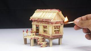 How to Make a Match House at home | Match Stick House Fire - POPs