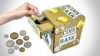 Diy coin Bank Box from cardboard | How To Make a Piggy Bank Box At Home