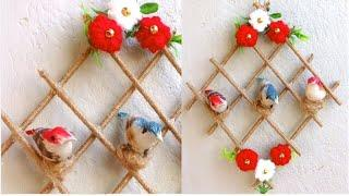DIY/ Home Decoration From Waste Materials/ Bird House Wall Hanging Best Out Of Waste