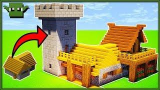 How to Transform a Minecraft Village House (L-SHAPED)