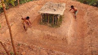 Build Underground Bamboo House With Mud