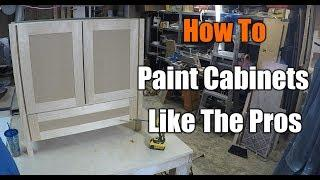 How To Paint Cabinets Like the Pros Do | THE HANDYMAN | 1940s Bathroom Remodel