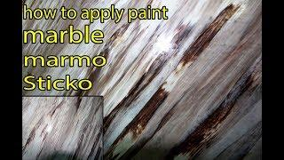 marble painting/marble effect paint/ techniques on walls