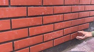 Amazing Techniques Latest Design Construction Skills Easy - How To Install Brick On Cement Walls