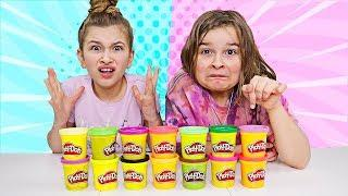 Don't Choose the Wrong PLAY DOH Slime Challenge!! | JKrew