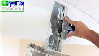 Mudding curved drywall soffit with arch bead- Soundproofing wall preview