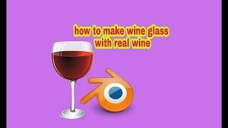 How to make wine glass with real wine in blender