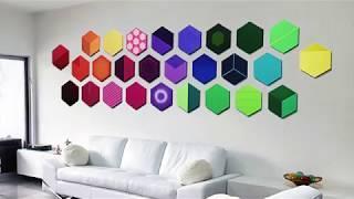 Mod Wall Art | Modern Wall Art | Hexagon Wall Designs