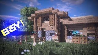 Minecraft: How to make a Survival House for beginners | Building tutorial
