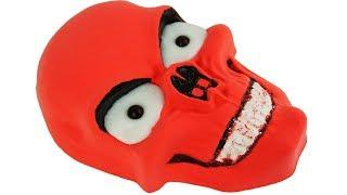 DIY How To Make Slime Kinetic Sand Red Skull Orbeez Eye | Learn Colors with PJ Masks Toys Balloons