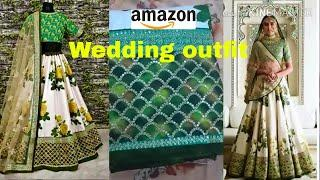 Bollywood lehenga review & try on|Amazon Silk lehenga review|lehenga shopping|wedding outfit
