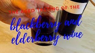 top shelf blackberry and elderberry wine aged tasting