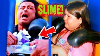 MAKING SLIME ON A ROLLER COASTER! OMG!