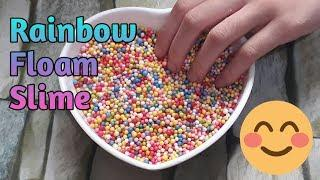How To Make Floam Slime (Rainbow Crunchy Slime) | DIY Slime - Most Satisfying