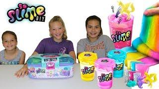 "SLIME SHAKERS KIT "" 6 DIFFERENT SLIMES "" MAKING SLIME WITH OUR NEW FRIENDS ""SISTER FOREVER"""
