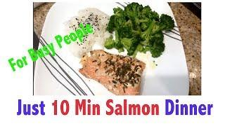 Just 10 Min Salmon Dinner (Weight Loss meal)
