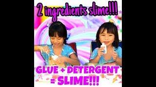 A MUST TRY EASY DIY: How To Make Slime With 2 Ingredients Only!!!!