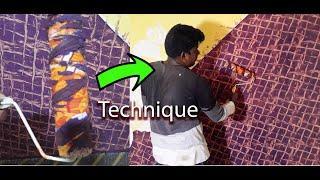 Decorative Paint Techniques for Interior Walls   Wall Texture design