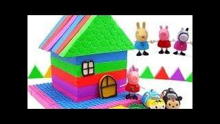 Learn Colors And DIY How To Make With Kinetic Sand Make House Rainbow