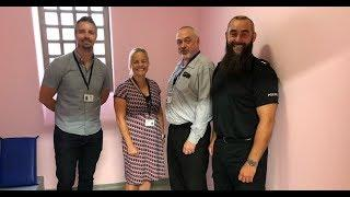 Police paint custody cell pink to create 'less threatening' environment