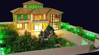 Building Popsicle Stick Mansion House - Popsicle Garden Villa - Architecture - Mode 12