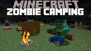 Minecraft BEARS DESTROY HOUSE CAMP SITE / CAMPING MOD WITH MARK OUR FRIENDLY ZOMBIE !! Minecraft