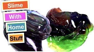 How To Make Slime With Everyday Home Ingredients!! Easy Slime Recipes