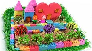 How To Make Love House with Kinetic Sand, Mad Mattr, Slime | Colors for Chidlren to Learn Toddlers