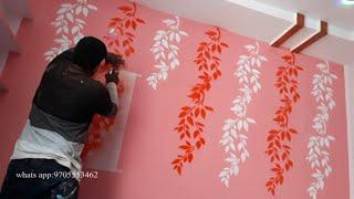Interior home design with stencil (spray wall art) @@ Spray paint stencil art
