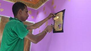 How To Wall painting creative new design for Asian paints interior combination design ideas