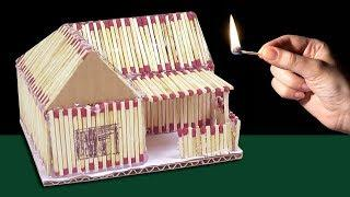 How to Make a Match House Fire at home -  match stick house fire