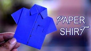 How to Make Paper Shirt - DIY Origami Paper Crafts | Technic Guru